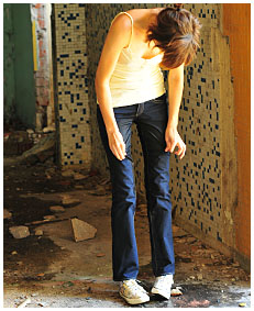 natalie wets her jeans in an abandoned building 00