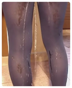 pantyhose pissing video
