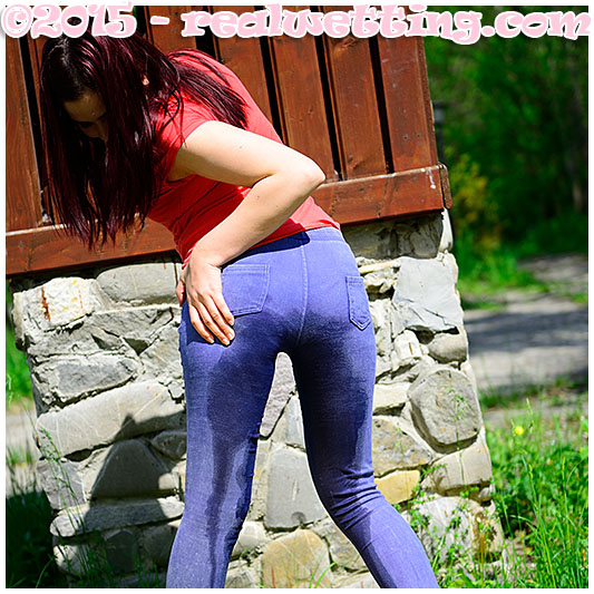 Wetting her pants accident wetting pee piss urine pissing her pants
