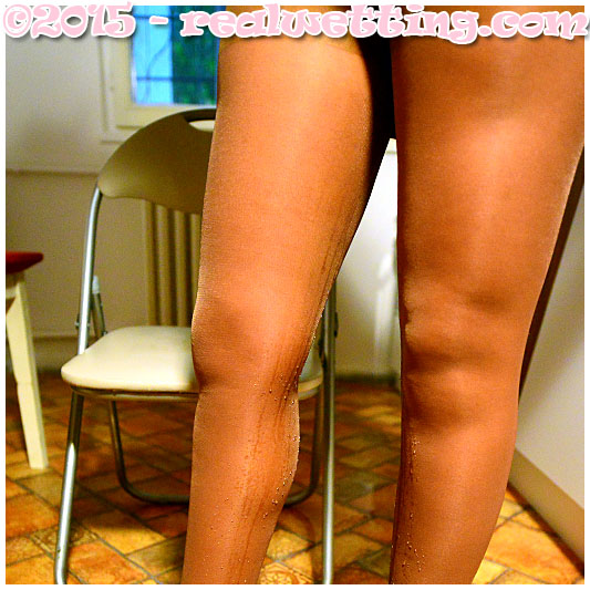 Wetting in pantyhose, sexy girl wets herself by accident 08