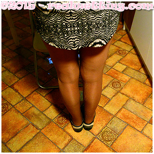 Wetting in pantyhose, sexy girl wets herself by accident 09