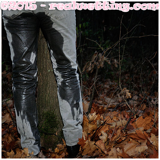 sara is bound to a tree and pisses herself trying to run wetting jeans pissing her pants