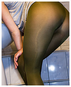 sexy girl wets herself in pantyhose deliberate wetting piss gushing out