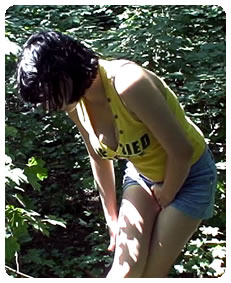 she is pissing her shorts video preview