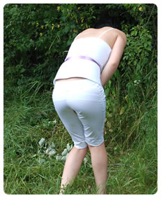 teenager urinates her white pants wetting herself on purpose fetish