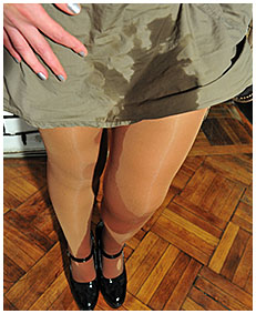 valerie pisses herself wetting her dress pantyhose nylons urinating on herself losing control of her bladder 00