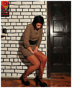 valerie pisses herself wetting her dress pantyhose nylons urinating on herself losing control of her bladder 01