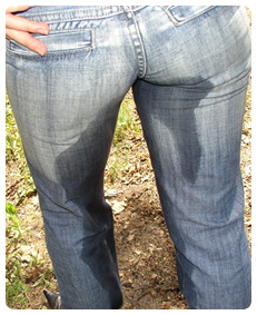 I wet my jeans by accident